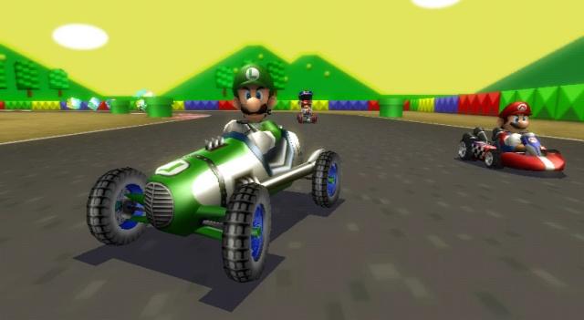 Mario Kart Wii - Aaaah ces vieux circuits avec des briques de lego en guise de murs...